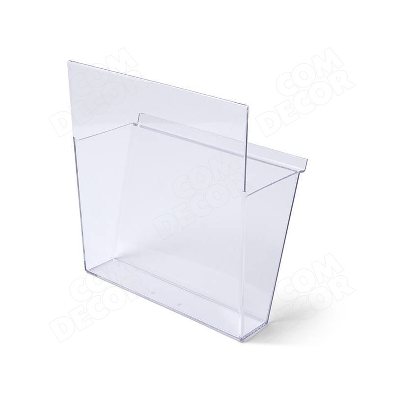 Muovista (styreeni) esitehylly / -laatikko