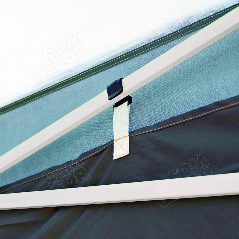 Pop up teltan seinän kiinnitys