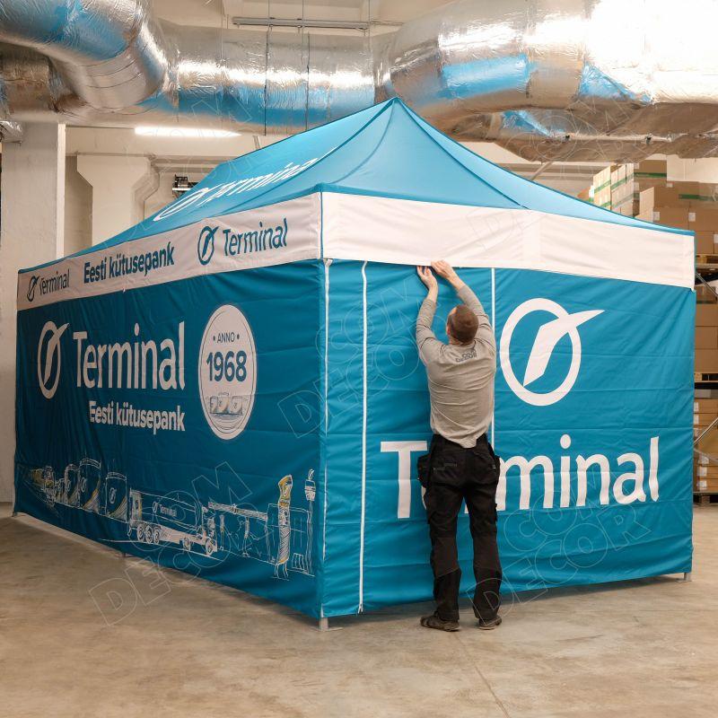 Varikkoteltta / pop up teltta