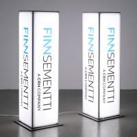 Illuminated advertisement / pylon on t-flex frame