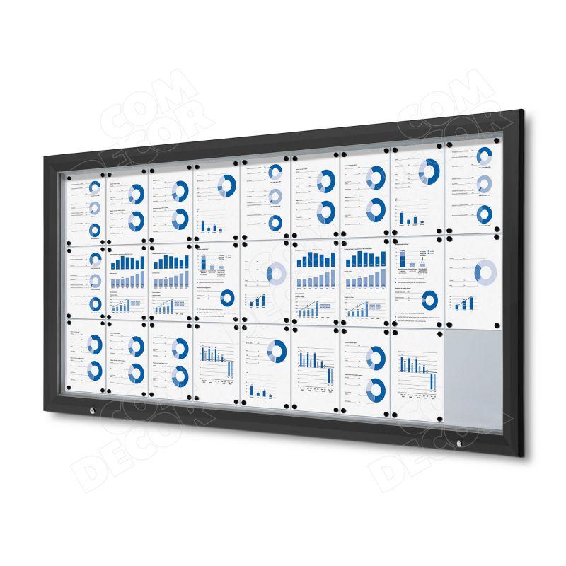 Black notice board / bulletin board