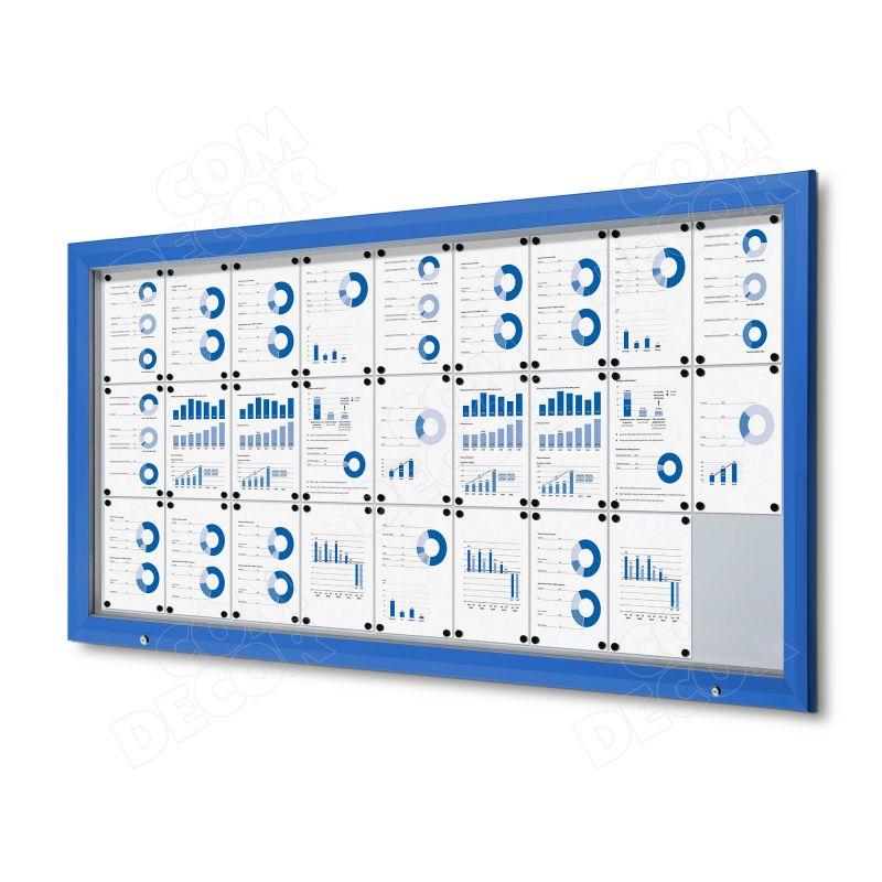 Blue notice board / bulletin board