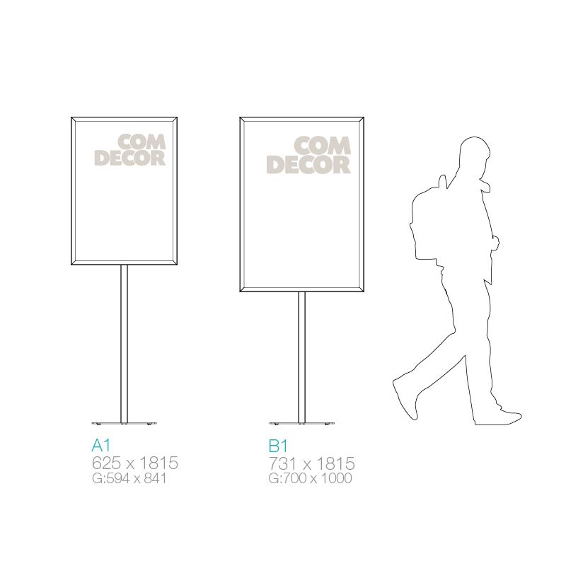 Dimensions of poster stands