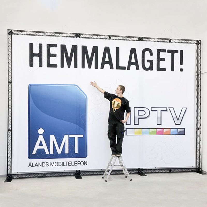 Large exhibition stand - advertising stand