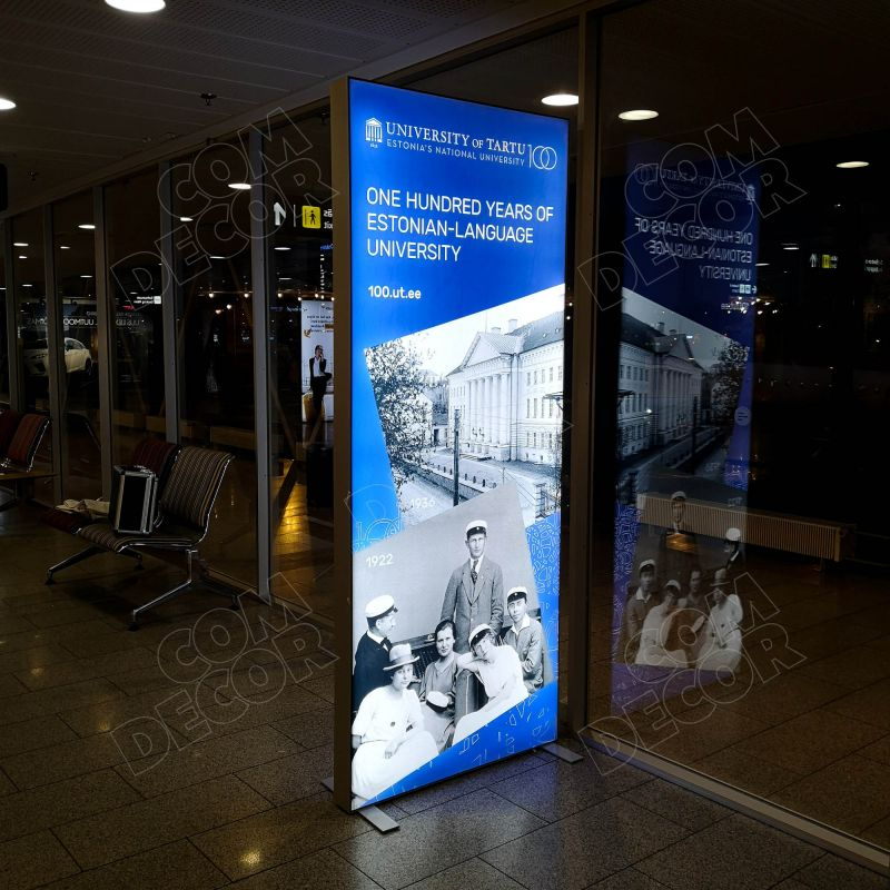 Lightbox / illuminated advertisement at the airport