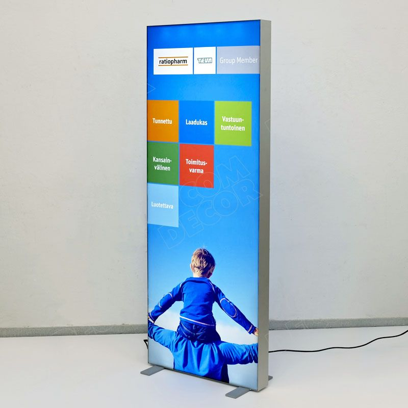 Lightbox with printed fabric