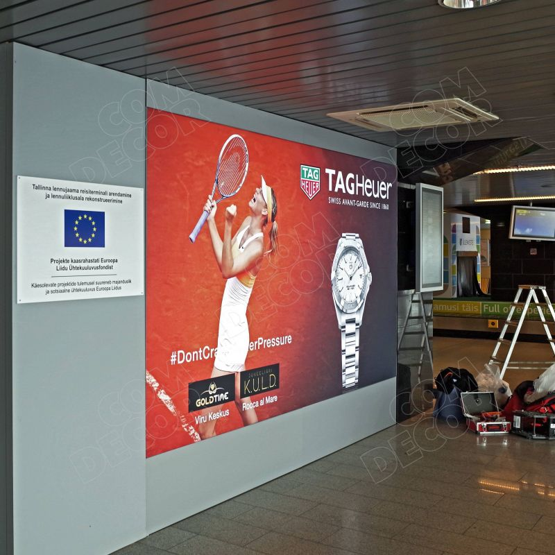 Lightboxes at Tallinn Airport
