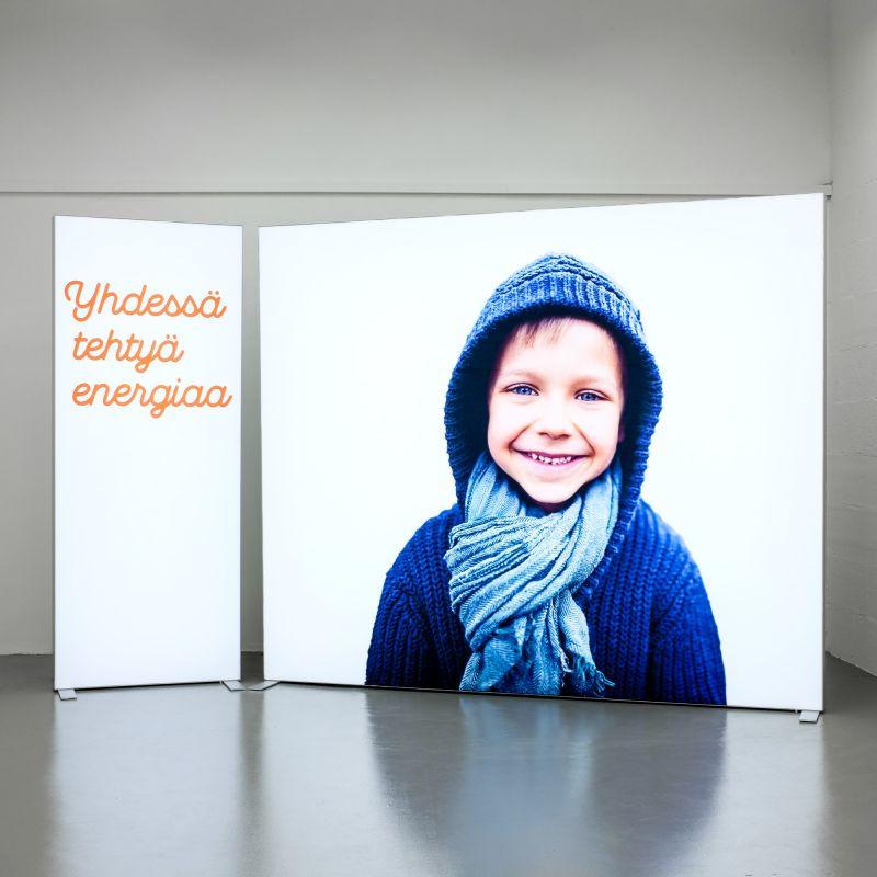 Lightboxes - illuminated exhibition construction