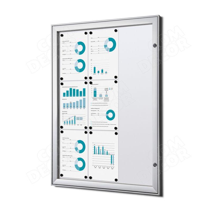 Lockable notice board / bulletin board