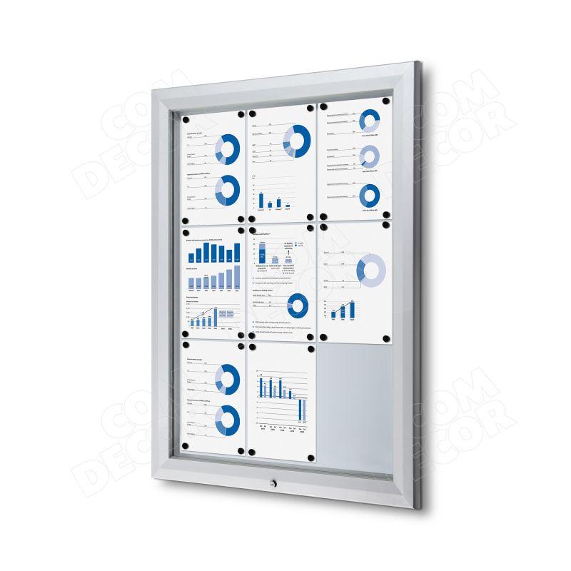 Lockable outdoor notice board / bulletin board