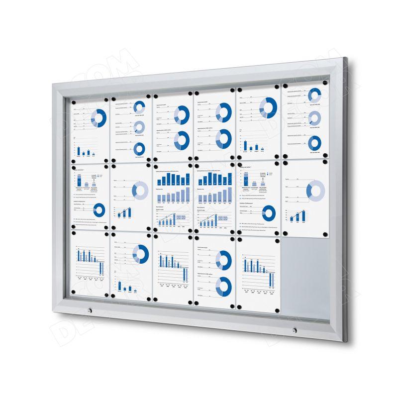 Lockable outdoor notice board / bulletin board 9 A4