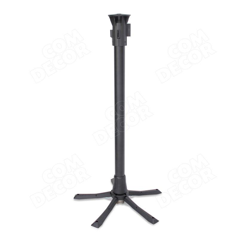 Portable barrier pole