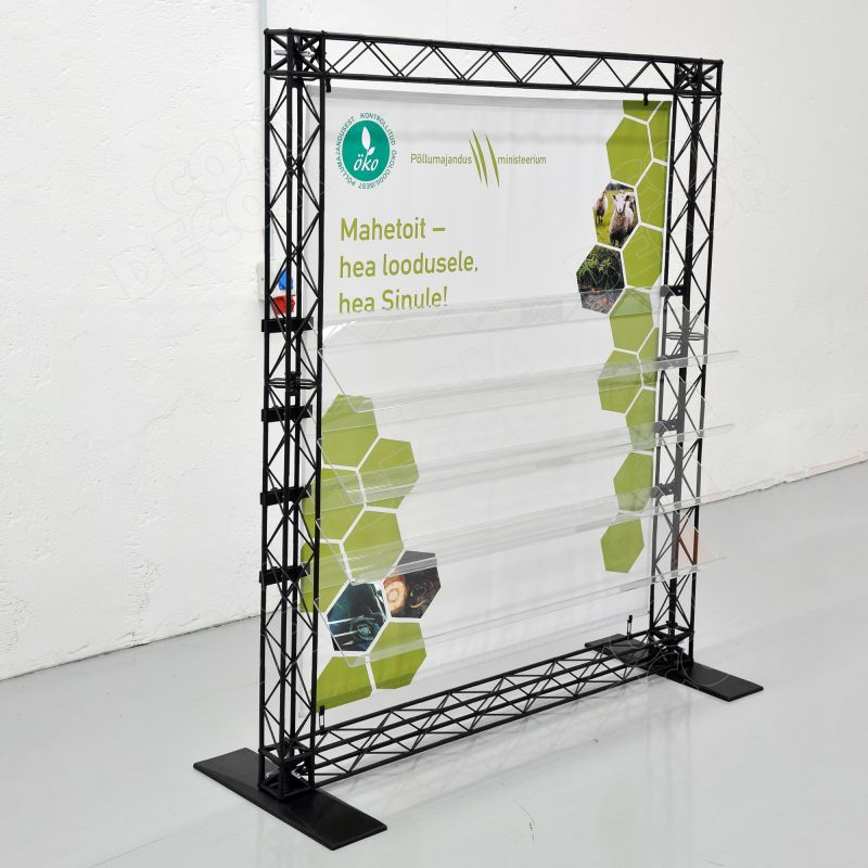 Print holders / shelves for exhibition walls